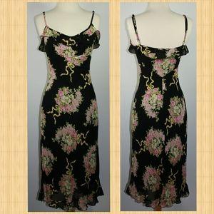 Betsey Johnson Floral Sheath Midi Wiggle Dress